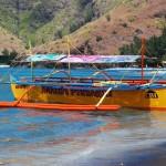 Big bangka moored in the cove
