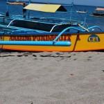 A small bangka on the shore