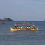 Big bangka on the sea